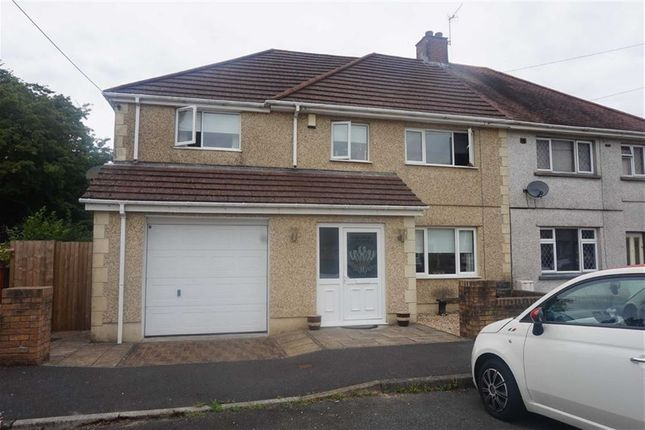 Thumbnail Semi-detached house for sale in Bryneinon Road, Swansea