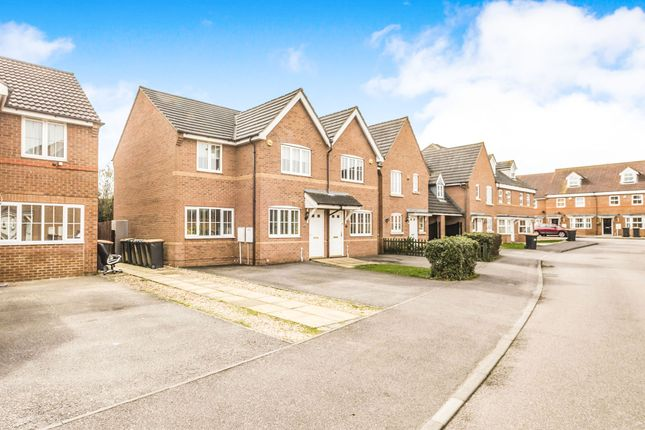Thumbnail End terrace house for sale in Sandleford Drive, Elstow, Bedford