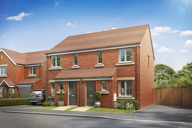 "Thumbnail Terraced house for sale in ""The Alnwick"" at Brickburn Close, Hampton Centre, Peterborough"