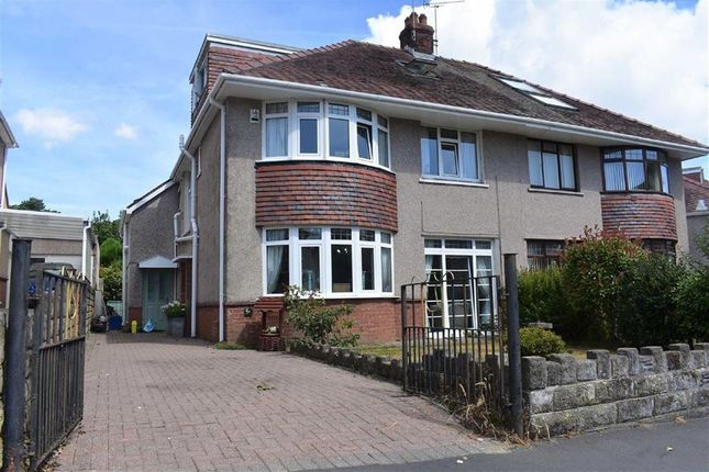 Thumbnail Semi-detached house for sale in Mayals Avenue, Blackpill, Swansea