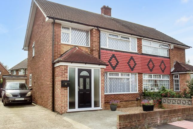 Thumbnail Semi-detached house to rent in St. Francis Avenue, Gravesend