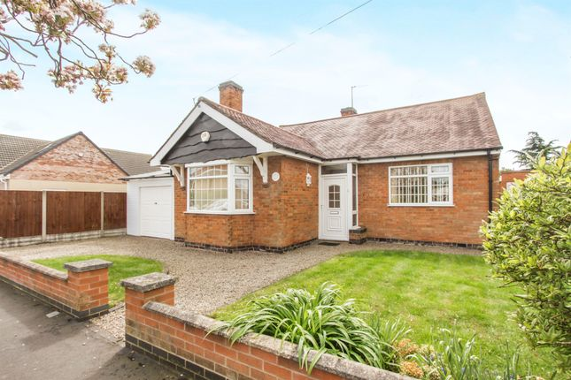 Thumbnail Detached bungalow for sale in Triumph Road, Glenfield, Leicester
