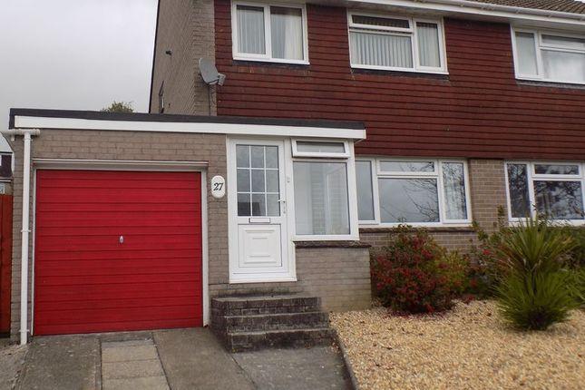 Thumbnail Semi-detached house to rent in Fernhill Close, Ivybridge