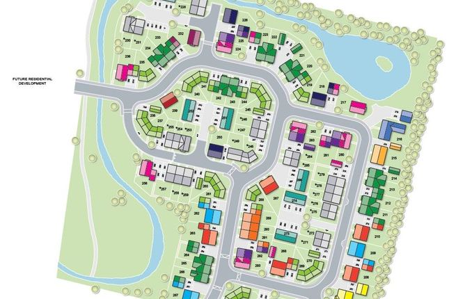 Site Plan of Whittlesey Green, Eastrea Road, Whittlesey PE7