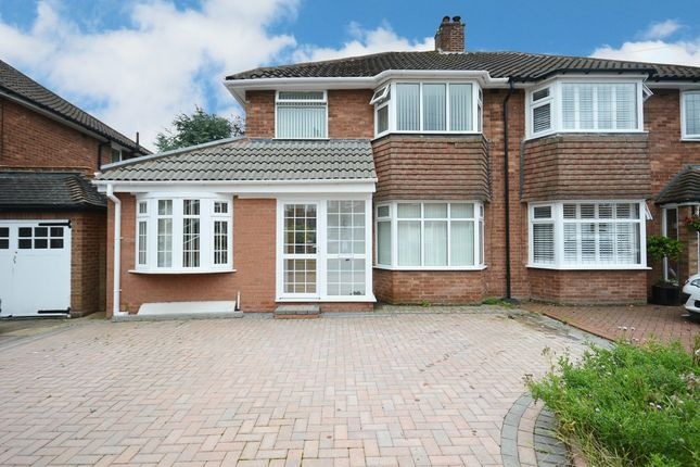 Thumbnail Semi-detached house for sale in Henley Crescent, Solihull