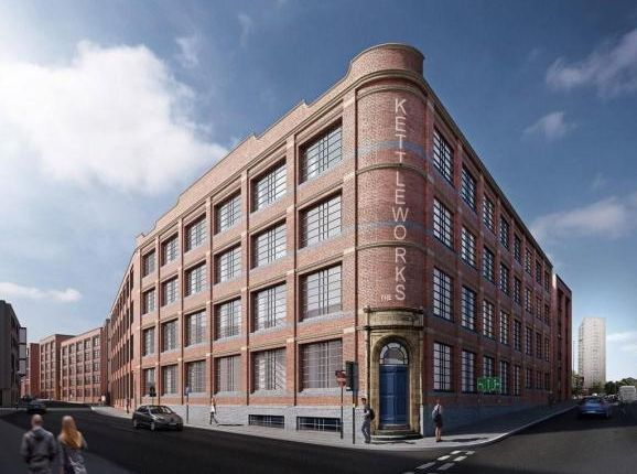 2 bed flat to rent in Kettleworks, 126 Pope Street, Jewellery Quarter, Birmingham B1