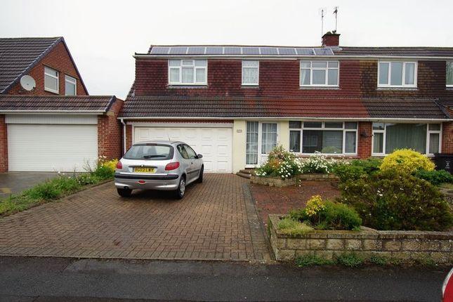 Thumbnail Semi-detached house for sale in Cheraton Close, Swindon