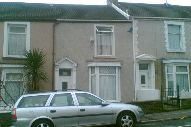 Thumbnail Terraced house to rent in Nicholl Street, Swansea