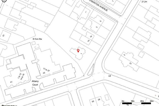 Site Plan of Priory Road, Sale M33