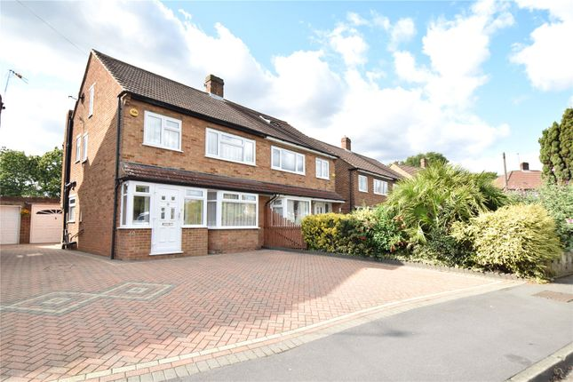 Thumbnail 4 bed semi-detached house for sale in Sermon Drive, Swanley, Kent