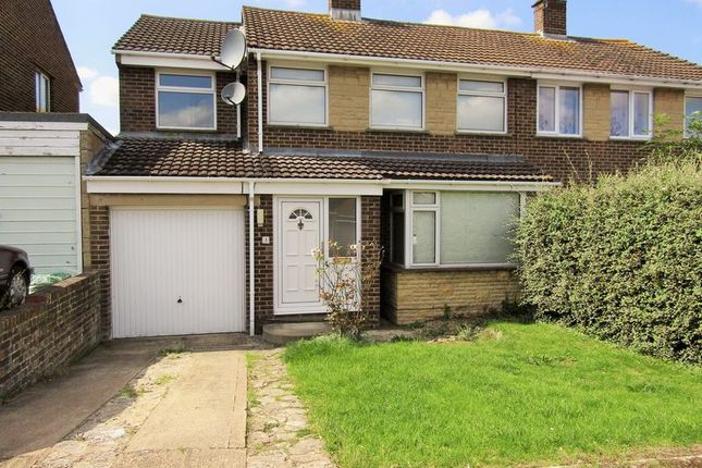 Thumbnail Semi-detached house for sale in Wylye Close, Swindon