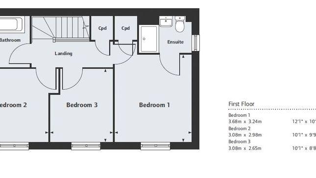 First Floor Plan of Plot 133 Stadium Road, Hall Green, Birmingham B28