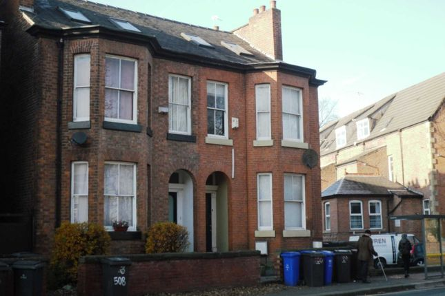Thumbnail End terrace house to rent in Wilmslow Road, Didsbury, Manchester