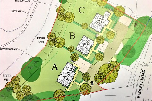 Site Layout of Lake View, Hyde Lane, Frogmore AL2