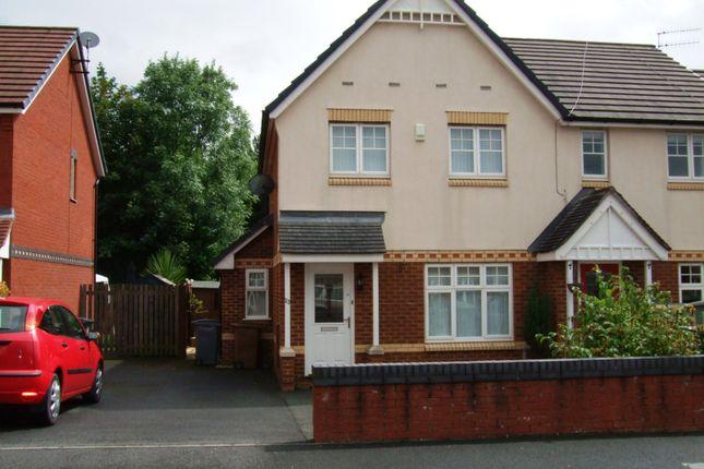 Thumbnail Semi-detached house to rent in Croft Green, Bromborough, Wirral