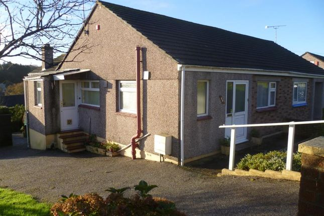 Thumbnail Semi-detached bungalow to rent in Goosewell Park Road, Goosewell, Plymouth, Devon