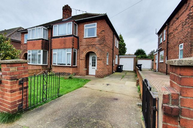 Thumbnail Semi-detached house to rent in Dublin Road, Doncaster