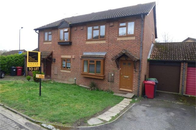 Thumbnail Semi-detached house to rent in Raleigh Close, Cippenham, Berkshire