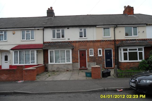 Thumbnail Terraced house to rent in Stoneliegh Road, Perry Barr, Birmingham