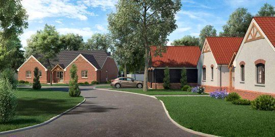 Thumbnail Detached bungalow for sale in Church Meadow Plot 1, The Coppice, Weston, Spalding, Lincolnshire