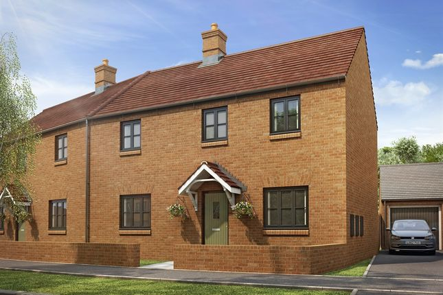 """Thumbnail Semi-detached house for sale in """"The Radstone Splay"""" at Heathencote, Towcester"""