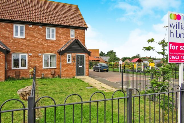 Thumbnail Semi-detached house for sale in Chopyngs Dole Close, Sprowston, Norwich