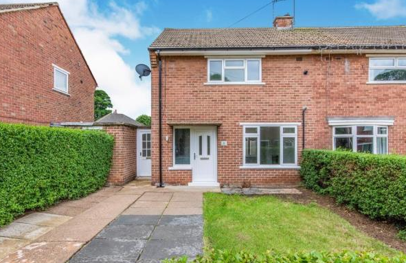Thumbnail 2 bed semi-detached house to rent in Aldesworth Road, Cantley, Doncaster