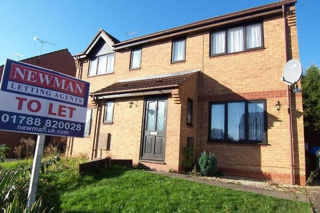 Thumbnail Semi-detached house to rent in Whetstone Drive, Brownsover, Rugby
