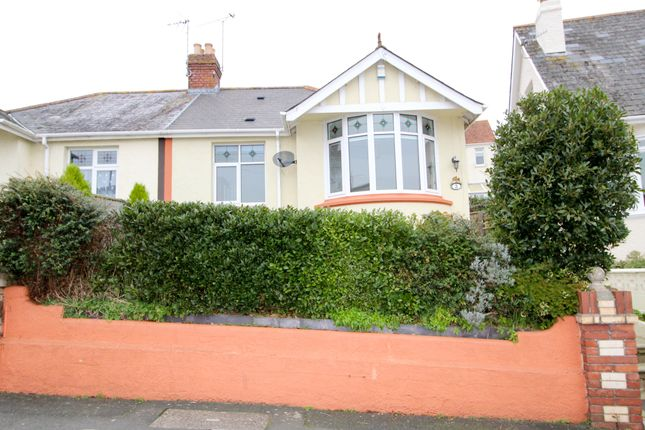 Thumbnail Semi-detached bungalow for sale in Boundary Road, Chelston, Torquay