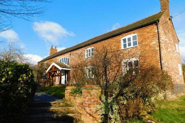 Thumbnail Farmhouse for sale in Barthomley Road, Barthomley, Cheshire.