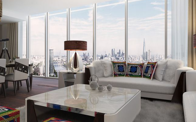 Thumbnail Flat for sale in Damac Tower, Aykon London One, Nine Elms, London