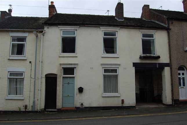 Thumbnail Terraced house for sale in Well Street, Newcastle-Under-Lyme