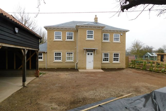 Thumbnail Detached house for sale in Stowmarket Road, Stowupland, Stowmarket