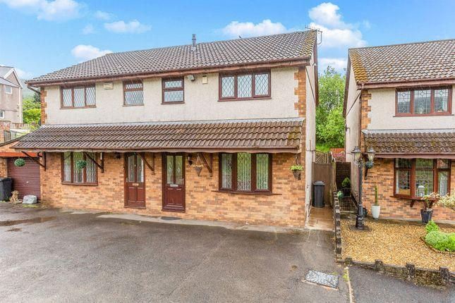 Thumbnail Semi-detached house for sale in Varteg Row, Bryn, Port Talbot