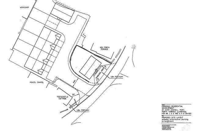 Thumbnail Land for sale in Land At Cwrt Castell Teifi, New Road, North Carmarthenshire, Llandysul
