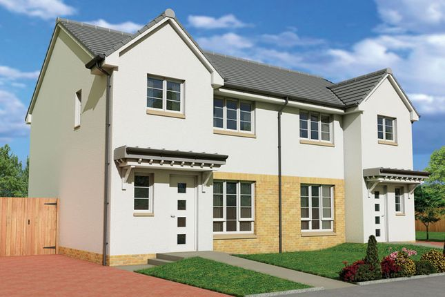 "Thumbnail Semi-detached house for sale in ""The Carrick"" at Fairlie, Largs"
