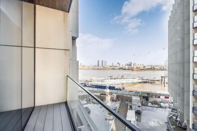 Balcony of No.2, Upper Riverside, Greenwich Peninsula, Cutter Lane SE10