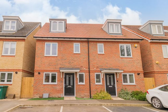 Thumbnail Semi-detached house for sale in Holywell Way, Staines-Upon-Thames, Surrey