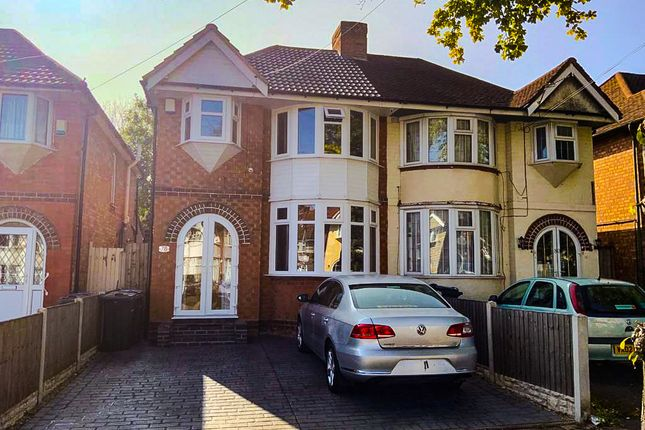 Thumbnail Semi-detached house for sale in Glendower Road, Perry Barr, Birmingham