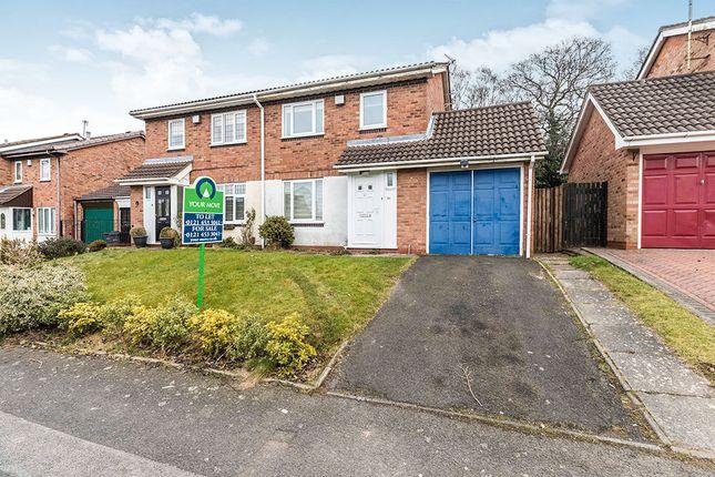 Thumbnail Semi-detached house for sale in Newman Way, Rednal, Birmingham