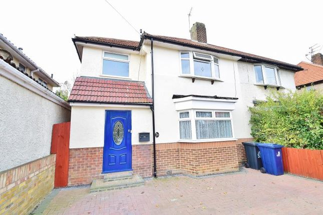 Thumbnail Semi-detached house for sale in Laughton Road, Northolt, Middlesex