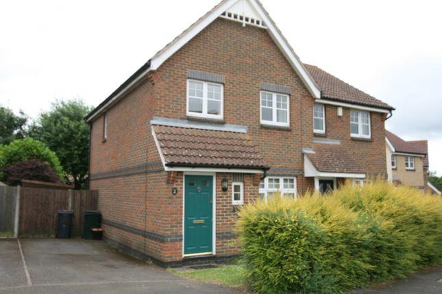 Thumbnail Semi-detached house to rent in Clarke Crescent, Kennington, Ashford, Kent