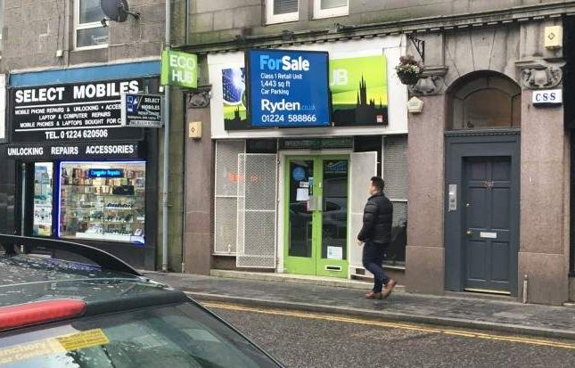 Retail premises for sale in George Street, Aberdeen