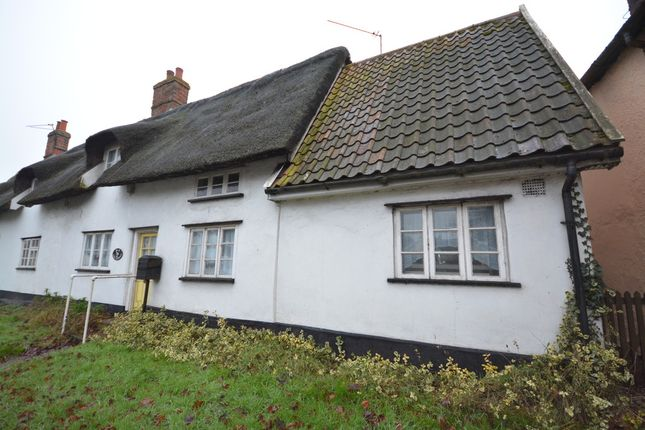 Thumbnail End terrace house for sale in The Street, South Lopham, Diss