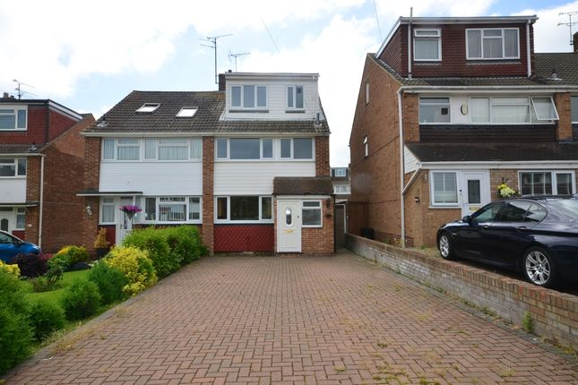 Thumbnail Semi-detached house to rent in Chestfield Close, Rainham, Gillingham