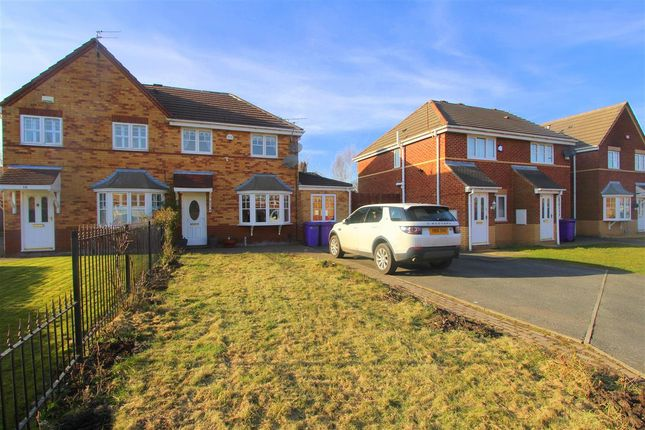 Thumbnail Semi-detached house for sale in Leo Close, Dovecot, Liverpool