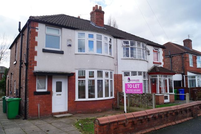 Thumbnail Semi-detached house to rent in Delacourt Road, Manchester