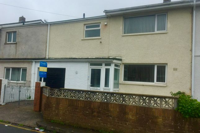 Thumbnail Terraced house to rent in Gibbons Way, North Cornelly