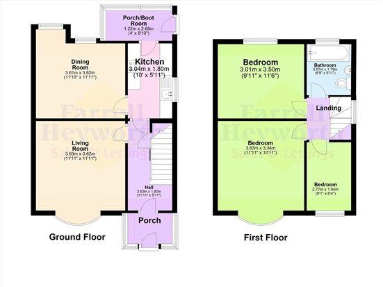 Floor Plan of Giller Close, Preston PR1