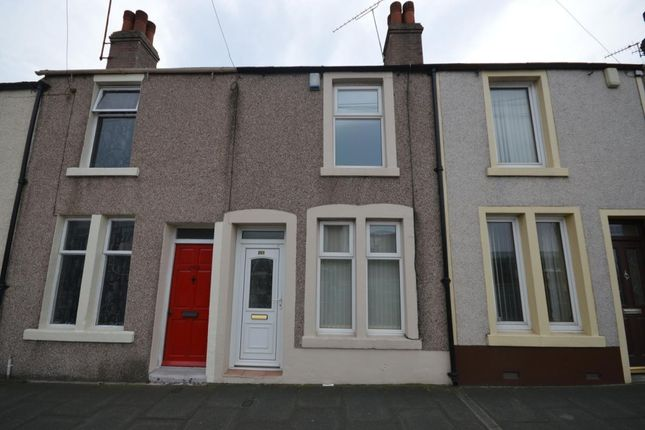Thumbnail Terraced house to rent in Ross View, Main Road, High Harrington, Workington